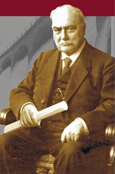 Baurat Albert Schmidt (1841-1932). Fotografie aus dem Jahre 1903.