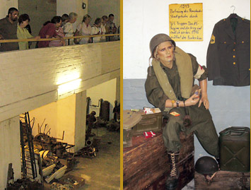 Im Bunker Honsberg lagert jetzt Militaria. Im Bild eine Schaufensterpuppe in US-Uniform.