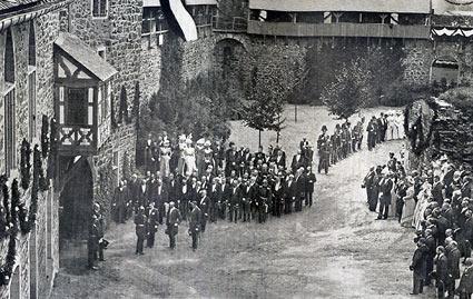 Am 12. August 1899 kam Kaiser Wilhelm II. zu Besuch.