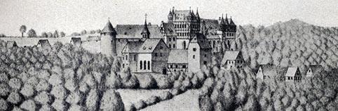 Zeichnung von Schloß Burg aus dem Jahre 1715.