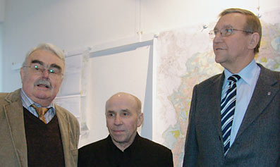 Die neue CDU-Fraktionsspitze von links nach rechts: Hans-Herbert Wilke und Klaus Mandt, stellvertretende Vorsitzende, und Philipp Veit, Vorsitzender. Foto: Lothar Kaiser