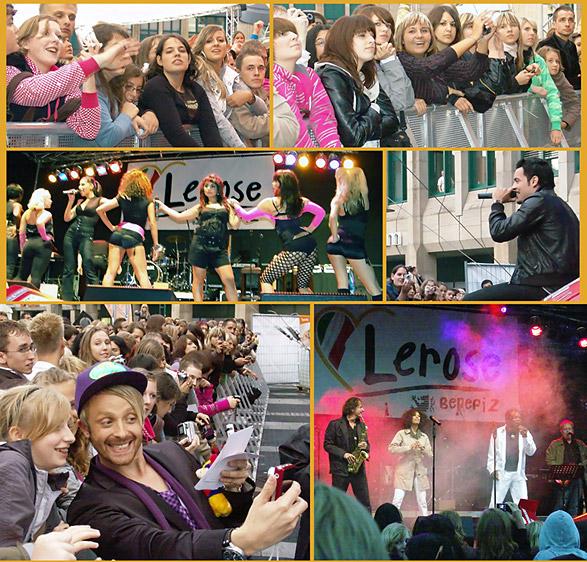 Die Teens kamen auf ihre Kosten Samstagabend beim Charity-Festival auf dem Rathausplatz. Fotos: Lothar Kaiser