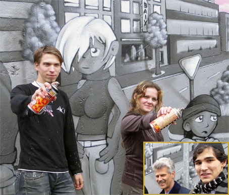 Großes Bild: Rene Schneider und Mariola Klosowski; kleines Bild Hans Heinz Schumacher und Hakan Eren. Foto:s Lothar Kaiser