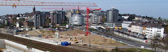 Luftbild vom neuen Remscheider Hauptbahnhof von Mai 2008. Foto: Lothar Kaiser