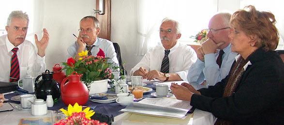 Von links: Thomas Hendele, Ernst-Andreas Ziegler, Franz Haug, Ernst Küchler und Beate Wilding. Foto: Lothar Kaiser.