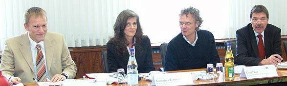 Von links Peter Ickert, Katharina Tomaczek, Gerd Dürr und Wolfgang Görtz. Foto: Lothar Kaiser