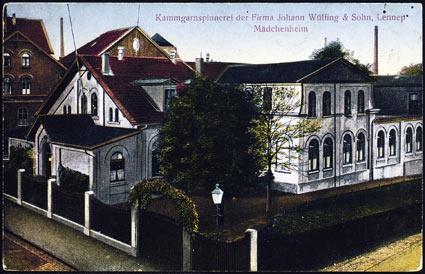 Das erste Mädchenheim der Kanngarnspinnerei im Jahre 1880
