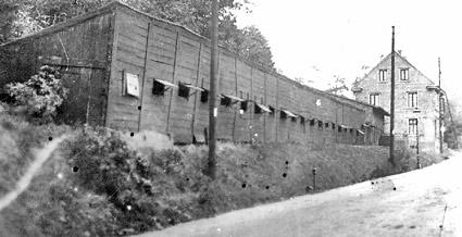 Die 'Reeperbahn', auf der die Seile gedreht wurden, schützte ein Langschuppen vor dem bergischen Wetter.