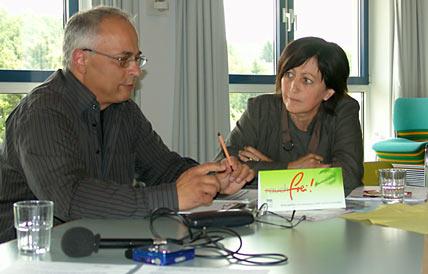 Bernd Liebetrau  und Karin Fischbach. Foto: Lothar Kaiser