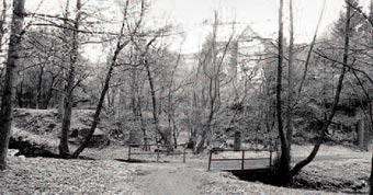 Fußweg Pulvermühle-Nüdelshalbach unterhalb Juppenhammerteich 1995. Foto: G. Schmidt