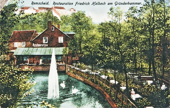 Fliedergarten mit Hasenclevers-Teich. Sammlung: Rudi Renelt