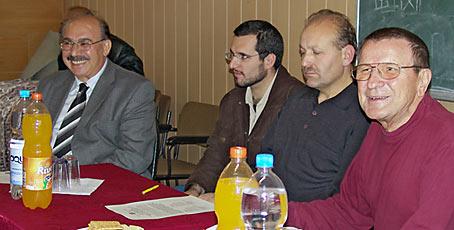 Von links Ramazan Dalgali, Metin Göçer, Ömer Hacisalihoglu und Georg Gregull. Foto: Lothar Kaiser