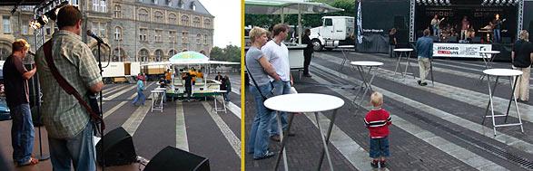 Open-Air auf dem Rathausplatz: Zum Auftakt hätte das Wetter besser sein sollen. Fotos: Lothar Kaiser