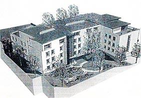 Gleich neben dem Amtsgericht will ein Investor dieses Altenheim bauen