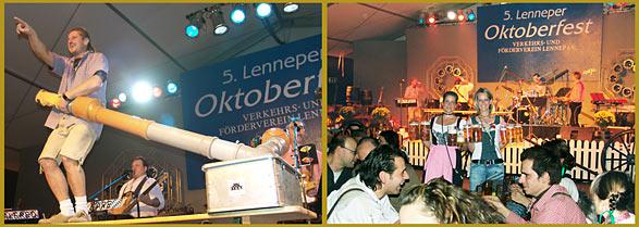 Oktoberfest in Lennep, und das Festzelt ist für Samstagabend ausverkauft.  Fotomontage: Lothar Kaiser