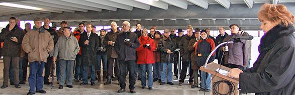 Richtfest auf Ebene 5 des neuen Parkhauses am Hauptbahnhof. Foto: Lothar Kaiser