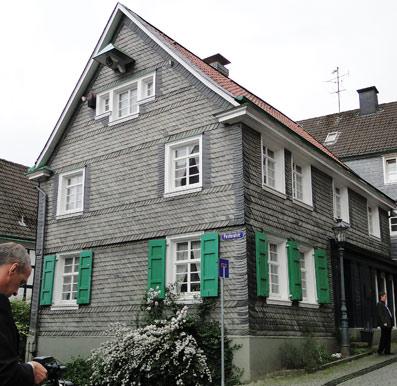 Das Geburtshaus des Nobelpreisträgers Wilhelm Conrad Röntgen in der Altstadt von Lennep. Foto: Lothar Kaiser