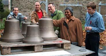 Ankunft der neuen Glocken / Fotos: Rogalla