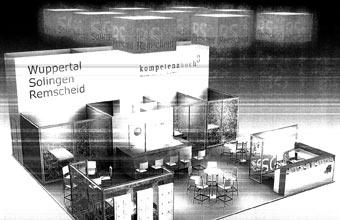 Entwurf des Bergischen Gemeinschaftsstandes auf der Expo REAL 2008