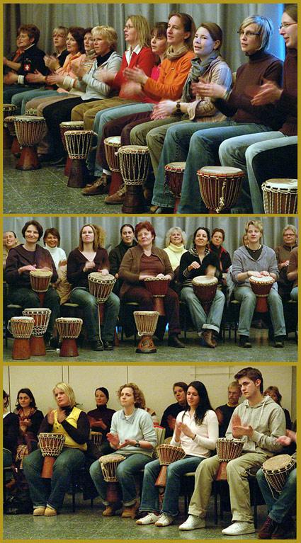 Auf den ersten Blick zu erkennen: Trommeln macht Spaß. Foto: Lothar Kaiser