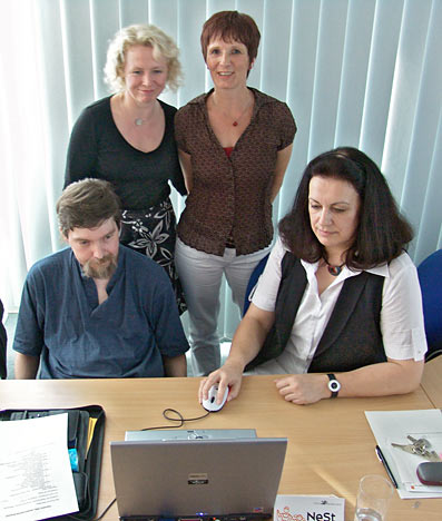 Von links: Michael Baumgart, Sabine Poppe, Annegret Buchholz und Marie-Therese Frommenkord. Foto: Lothar Kaiser