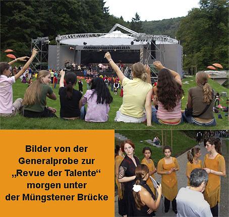 """""""Revue der Talente"""", die Generalprobe"""
