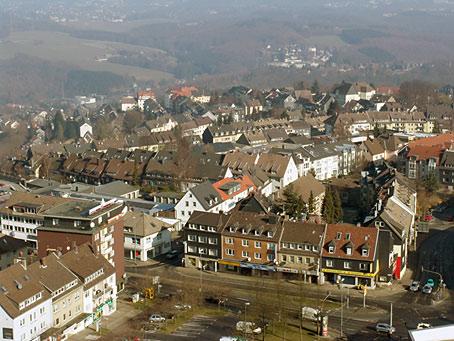 Blick vom Rathausturm Richtung Haddenbach. Foto: Lothar Kaiser