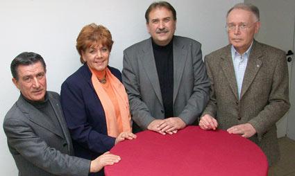 Im Bild von links nach rechts Luigi Costanzo, Beate Wilding, Jürgen Kucharzcyk und Lothar Krebs. Foto: Lothar Kaiser