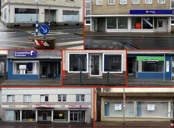 Leere Geschäfte an der Lenneper Straße. Fotos: Lothar Kaiser
